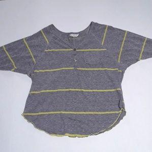 Billabong stripe shirt, size m